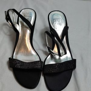 The touch of nina black heels with ankle strap
